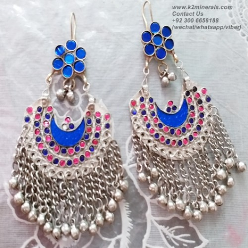 afghan tribal nomad earrings-906