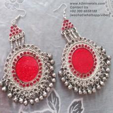 afghan tribal boho earrings # 907