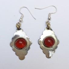 Pair of stunning silver Turkmen earrings # 1146
