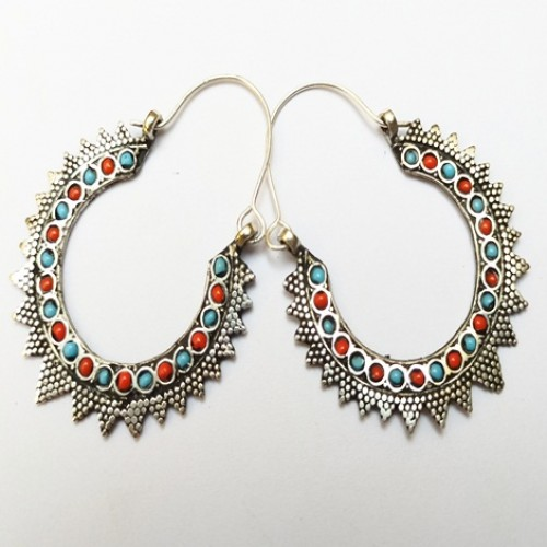 Kuchi Afghan Fashion Saw Earring-1120