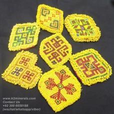 Afghan kuchi tribal beaded medallion-772