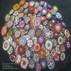 Afghan kuchi tribal beaded medallion-875
