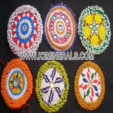 vintage kuchi tribal beaded medallion-135