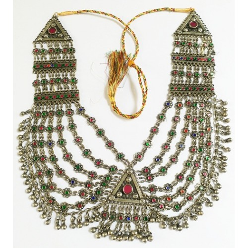 Dance vintage choker afghan metal ethnic necklace-1048
