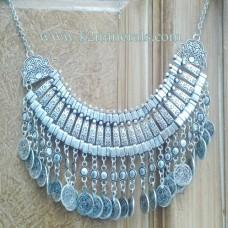 Vintage Boho Coin chunky choker Necklaces Fashion-603