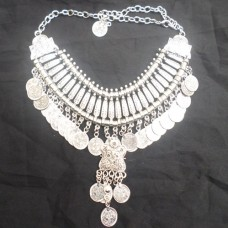 Vintage Boho Coin chunky choker Necklaces Fashion-604