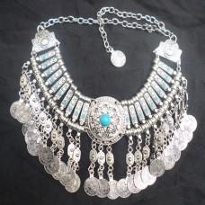 Vintage Boho Coin chunky choker Necklaces Fashion-606