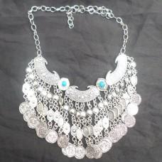 Vintage Boho Coin chunky choker Necklaces Fashion-607