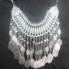 Vintage Boho Coin chunky choker Necklaces Fashion-608