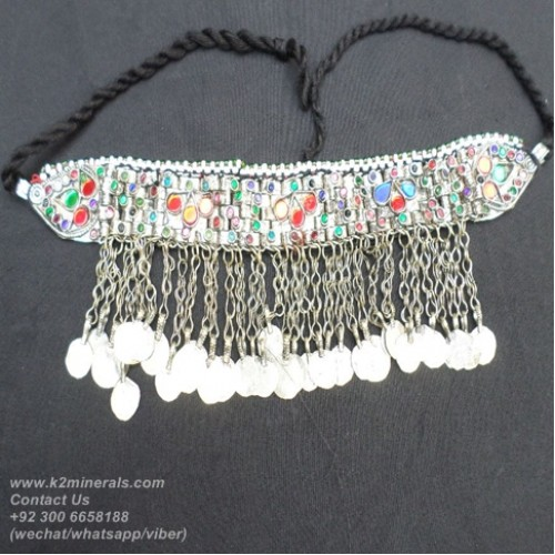 Afghan Tribal kuchi necklace-716