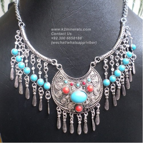 Boho gypsy necklace-752