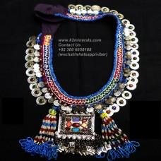 Afghan Tribal Antique Vintage necklace-816