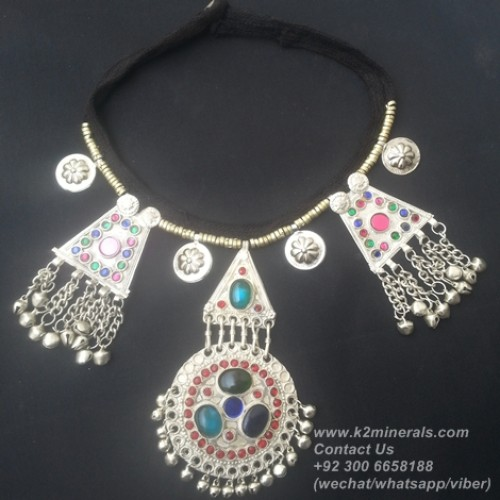 belly dance tribal necklace-867