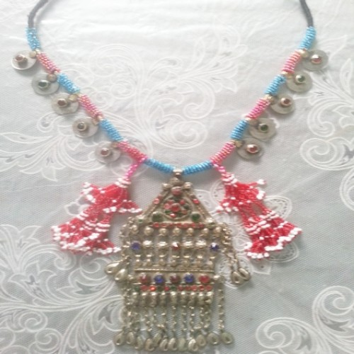 Afghan Tribal Antique Vintage necklace-896