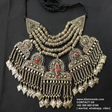 Afghani Style Antique Vintage Necklace-957