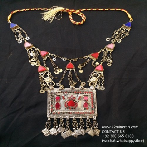 kuchi tribal afghan necklace-971