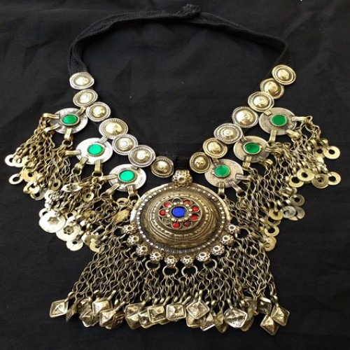 Afghani Style Antique Vintage Necklace-992