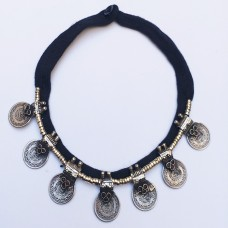 Kuchi tribe necklace with old coins-36