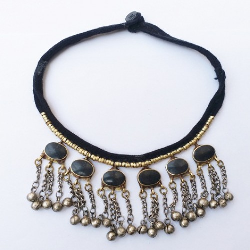 tribal afghan kuchi vintage choker wholesale jewellery necklace-1088