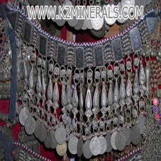 kuchi tribal coin necklace-115