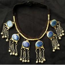 vintage tribal afghan metal ethnic necklace-1069