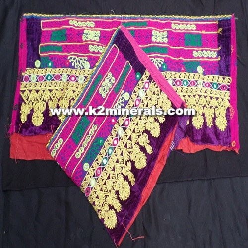 ethnic Vintage afghan tribal cloth patches # 297