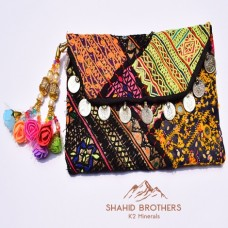 BALOCHI HAND CRAFTED PURSE POUCH VINTAGE CLUTCH # 1200