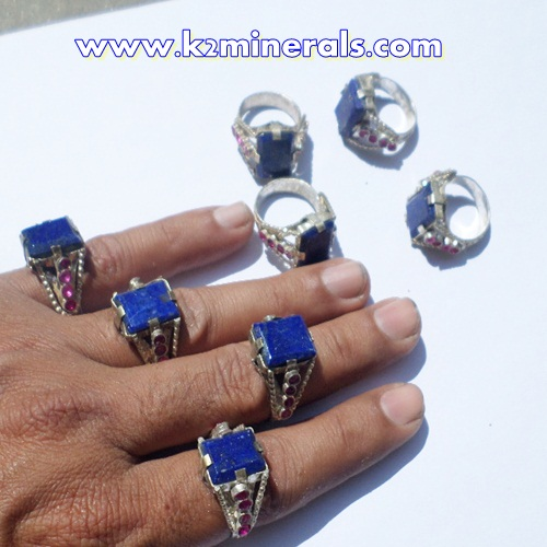 Afghan Tribal Antique Lapis stone Ring-428