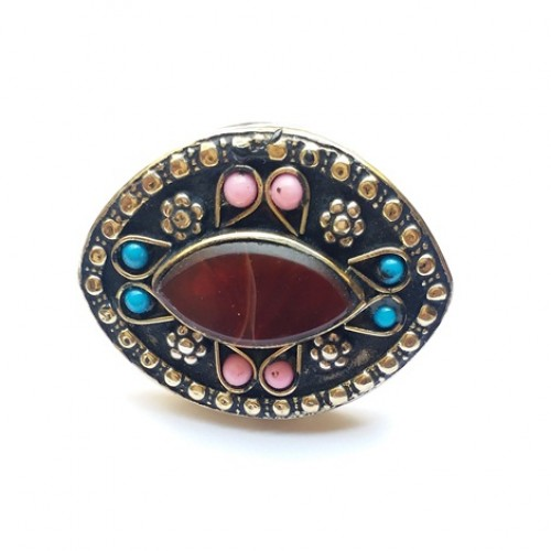 Golden tribal Rings afghan jewellery-1113