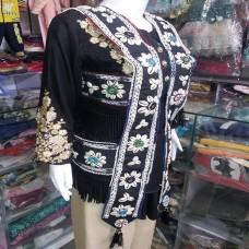 afghan fashion kuchi shall bead vest-1148